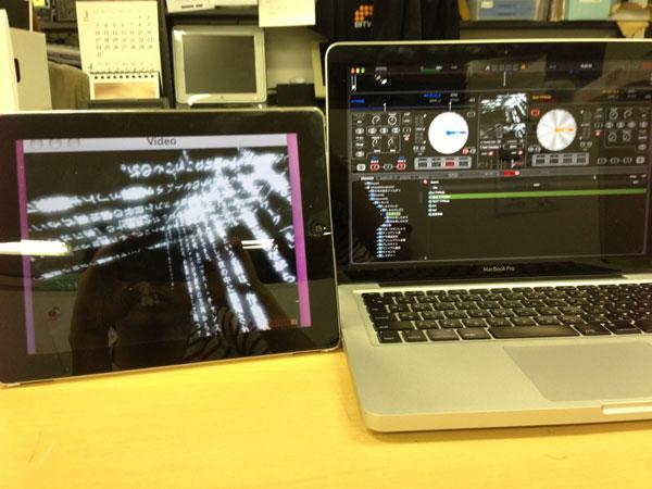 iPadをサブディスプレイにしてVJ