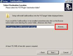 Program Files(32bit)のSteinbergフォルダ内のVstpluginsフォルダにインストールする設定