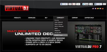 Virtual DJ.comアカウント作成手順1