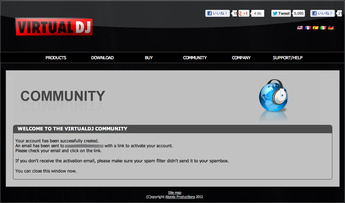 Virtual DJ.comアカウント作成手順3