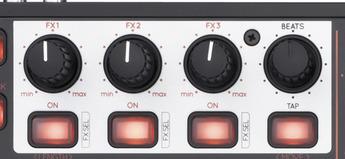 FXセクションのノブとボタン