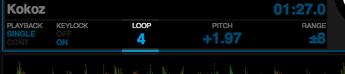 Loopの長さはデッキ画面で確認