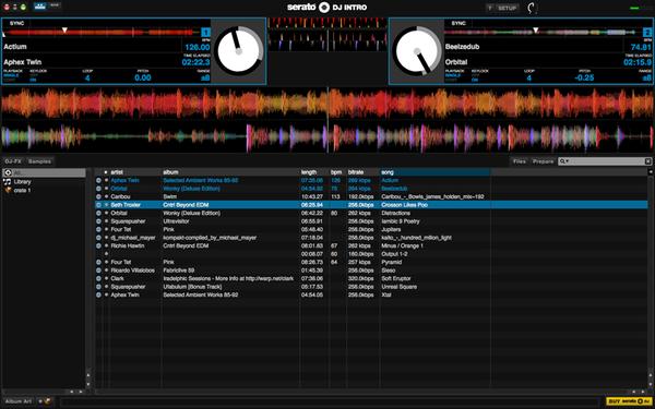 Serato DJ Intro メイン画面