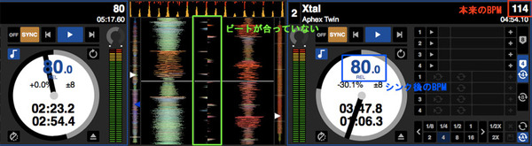 Serato DJ シンプルシンク