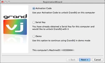GrandVJ 1.6.5 インストーラ インストール完了画面