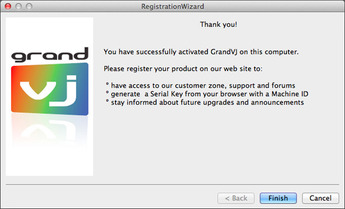 ArKaos GrandVJ RegistrationWizard