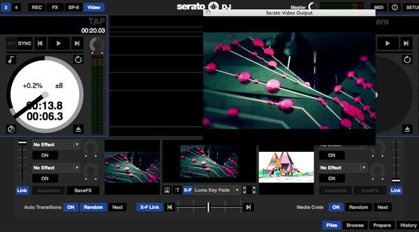 Serato DJ上で起動するSerato Video