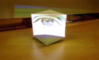 立方体を手前から見る