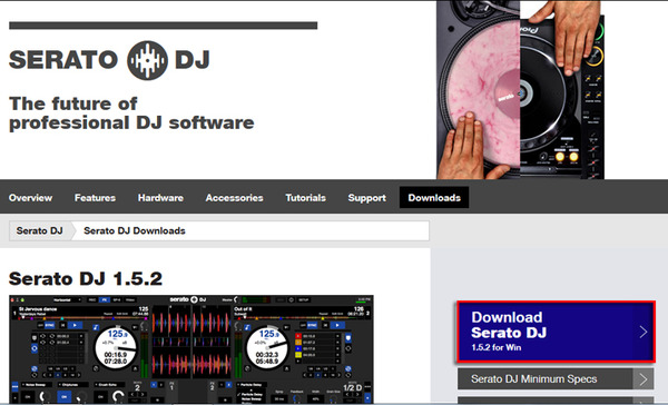 Download Serato DJをクリック