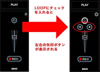 Loopのチェックを入れた画像