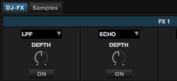 DJ-FXボタンをクリック