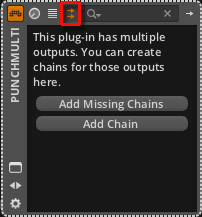 Show plug in multi out chain selector