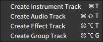 Create Group Tracks