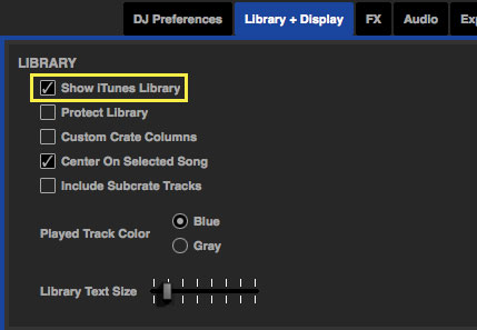 Show iTunes Library
