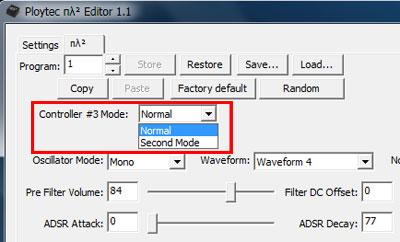 Second Modeに変更