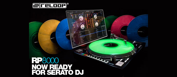 Reloop RP-8000がSerato DJ公式ターンテーブルへ