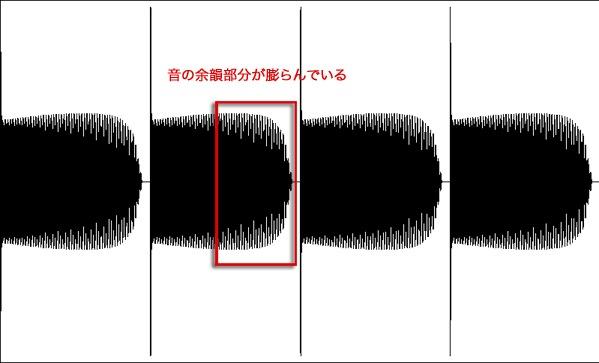 リリースタイム調整波形