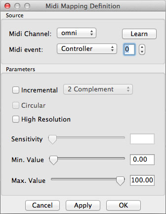 Midi Mapping Definition