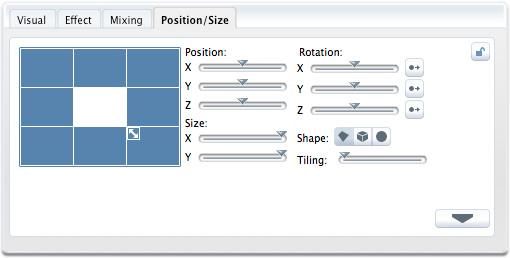 パラメーター・パネルPosition/Size