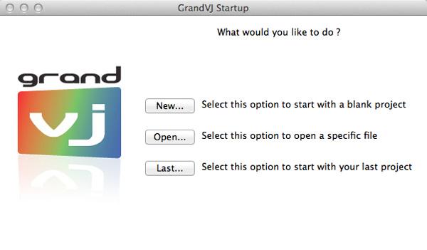 GrandVJ起動画面