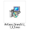 「ArKaos_GrandVJ_1.6.5.msi」ファイル