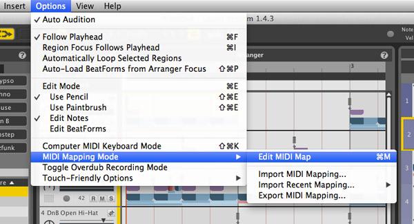 Edit MIDI Map