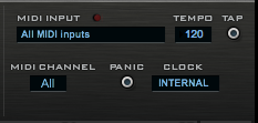 RP-Dock MIDIセクション