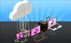 クラウドによる音楽配信サービス