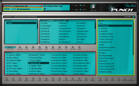 PRESET / SEQUENCER MANAGER