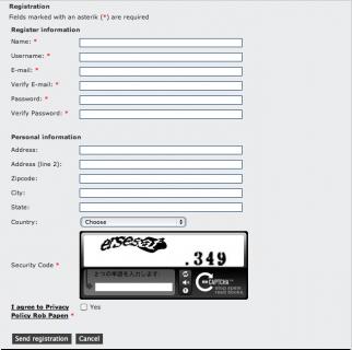登録情報入力画面1