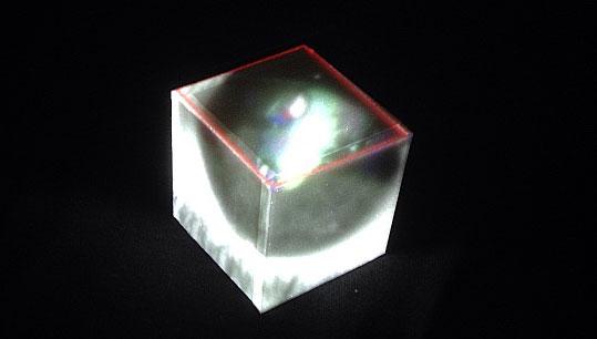 立方体の3面にサーフェスを作成