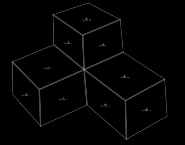 3面のサーフェスが3つで9つ