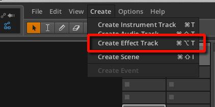 Create Effect Track