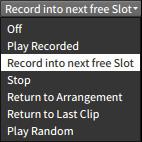 Recording into next free slot