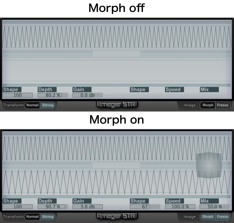 Morph on/off