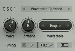 Wavetable Formant