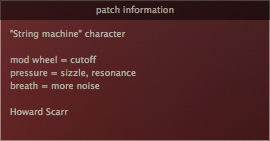 Patch information
