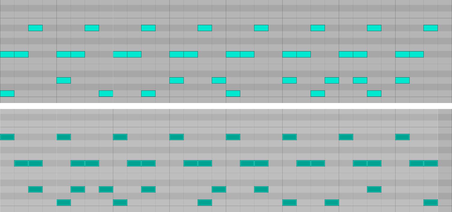 MIDIノートリバース比較