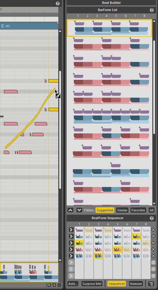 ボイシングを描きなおしたり、ビートを選び直したりして気に入ったパターンを作り上げましょう!