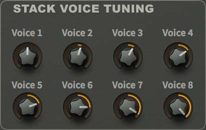 Stack voice tuning