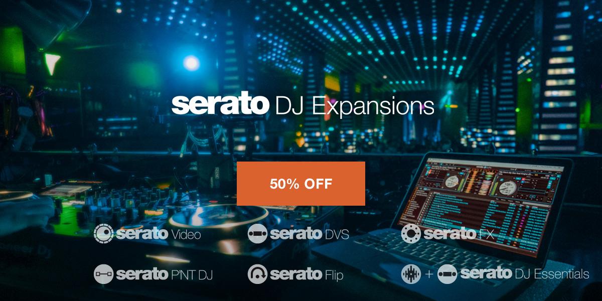 【セール】Serato DJ Expansions 半額!【期間限定】