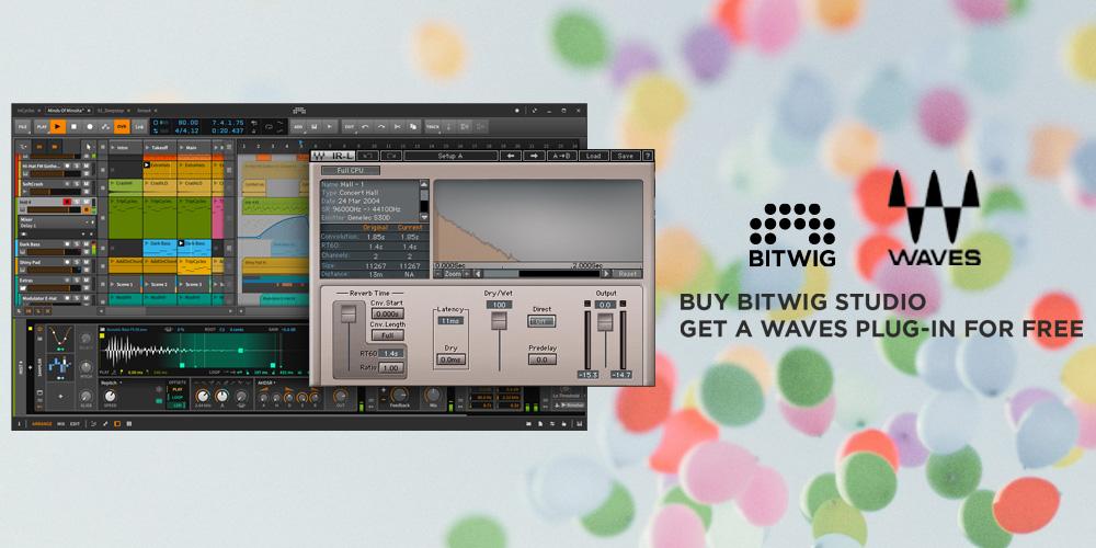 Bitwig Studio 2購入者に Wavesプラグインをプレゼント