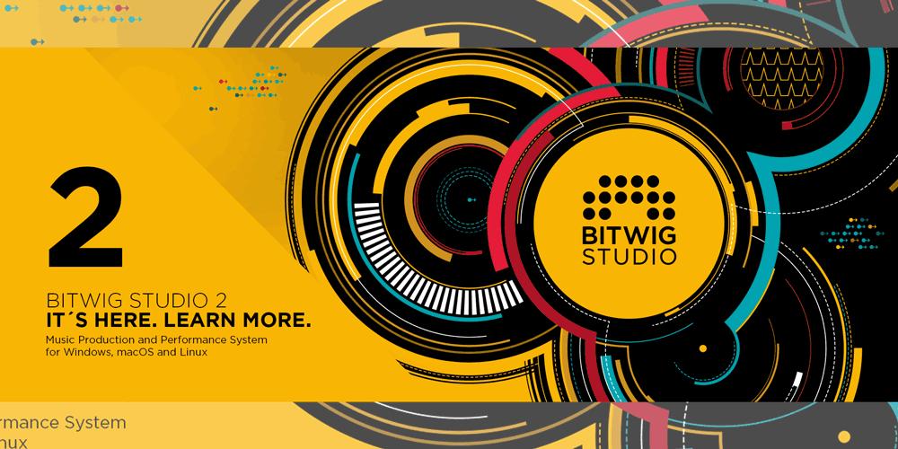 【新製品】Bitwig Studio 2パッケージ版 発売開始