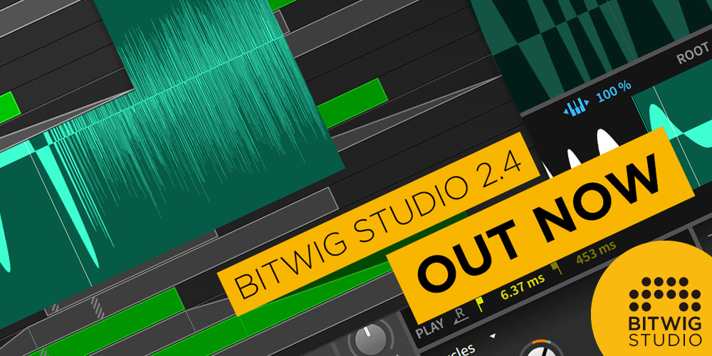 【バージョンアップ】Bitwig Studio 2.4 公開