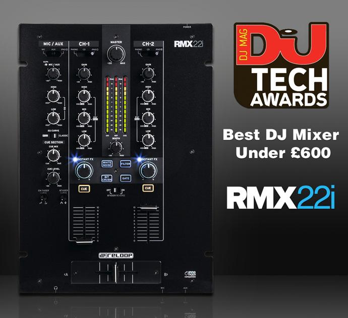 【受賞】Reloop RMX-22i が DJ TECH AWARDSを獲得