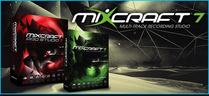 【新製品案内】軽快なワークステーション「Mixcraft 7」「Mixcraft Pro Studio 7」発売!