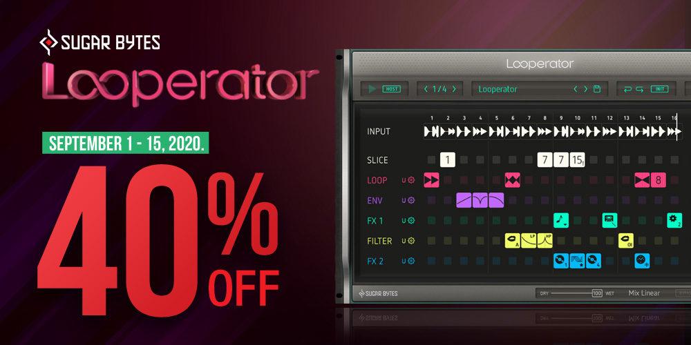 【タイムセール】Sugar-Bytes Looperator 40%オフ!