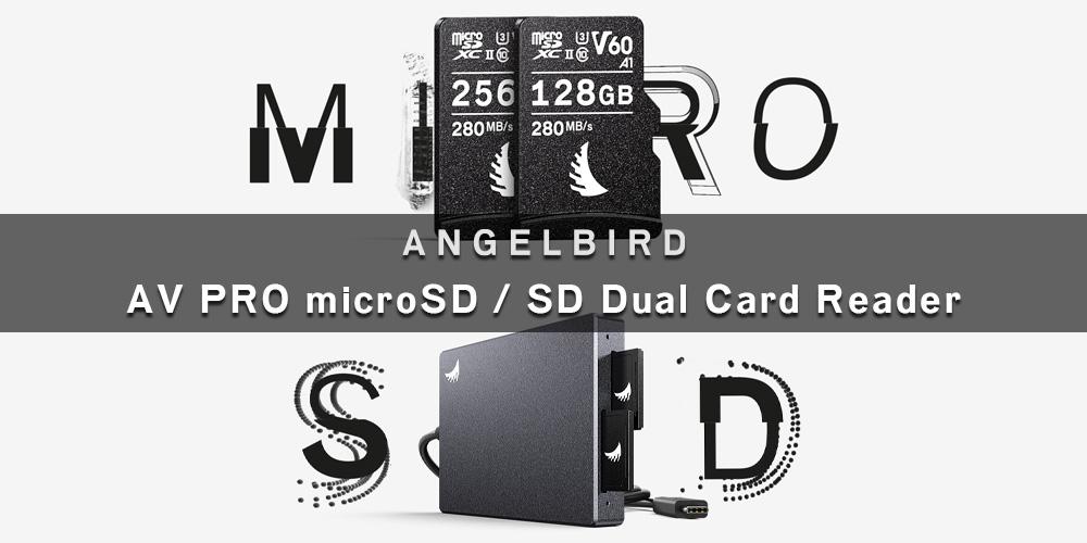 """【新製品】Angelbird """"AV PRO microSD"""" & """"SD Dual Card Reader""""発売のご案内"""