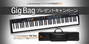 【期間延長】Numa Compact 2x Gig Bag プレゼントキャンペーン