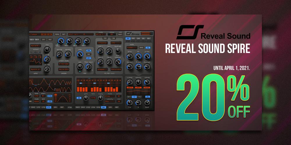 """【スプリングセール】Reveal Sound """"Spire"""" 20%オフ!【期間限定】"""
